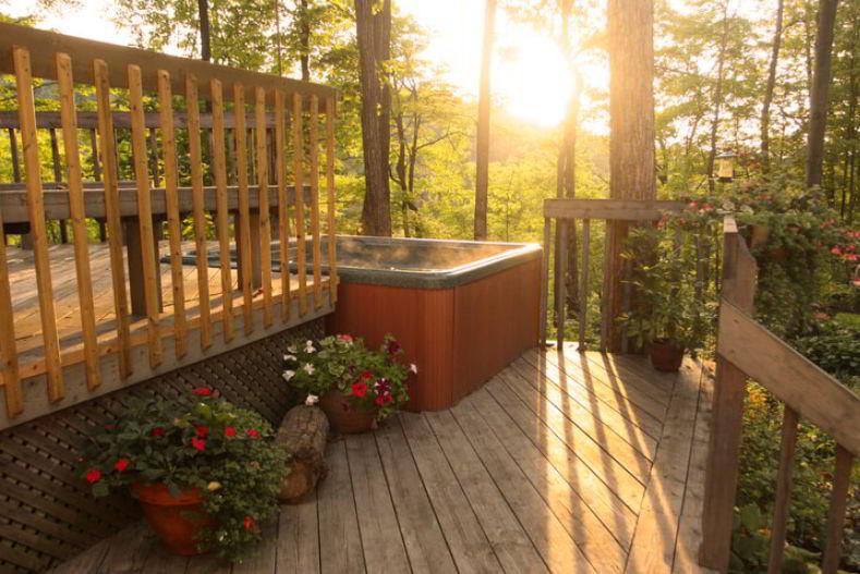 Hot Tub Deck Idea