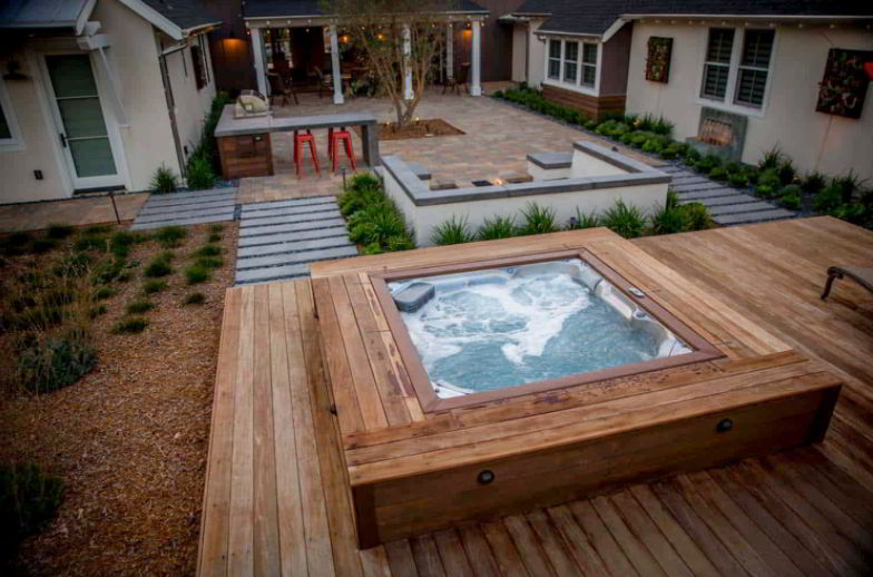 Elevated Hot Tub Deck Ideas
