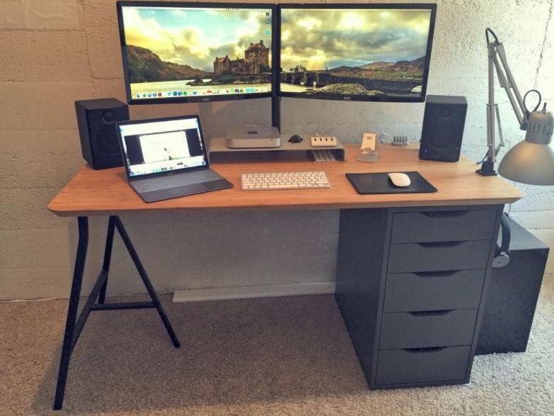Simple ikea desk setup