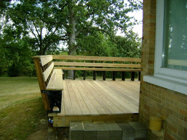 Unstained Railing Deck Ideas