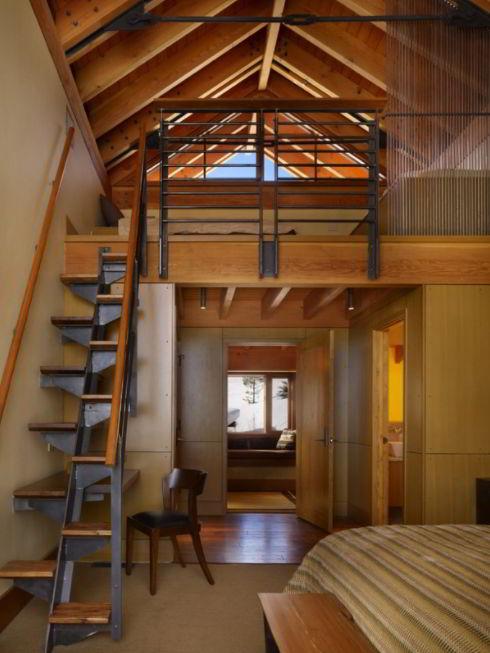Wooden Loft Staircase Concept