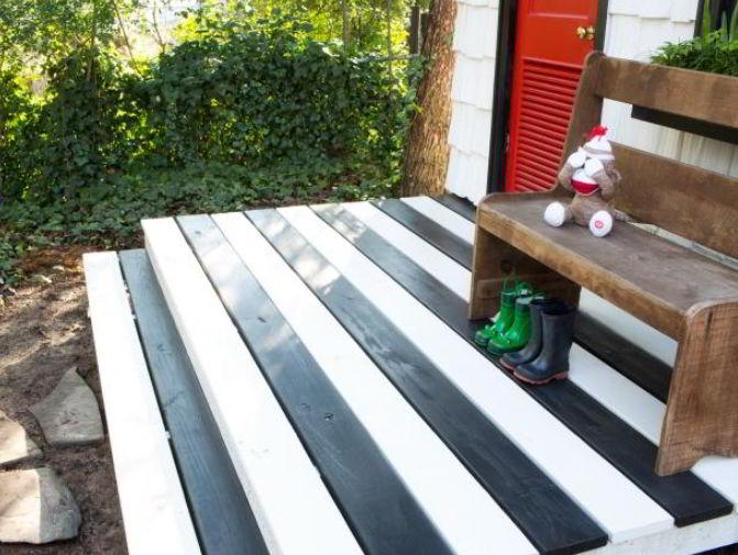 Simple Wooden Zebra Deck Color