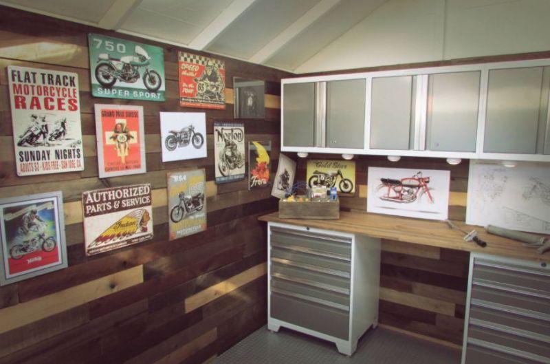 Motorcycle Wall Décor Ideas