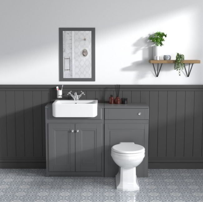Neutral Colored Toilet Sink Ideas