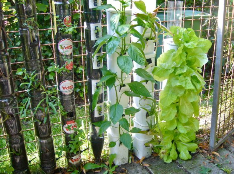 Recycled Bottle Tower Ideas