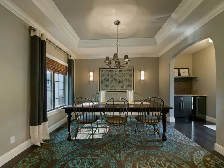 Earth Tone Recessed Ceiling