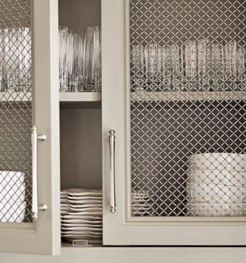 glass-doored kitchen cabinets