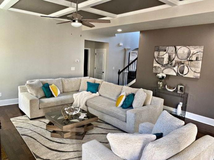 Monochromatic Coffered Ceiling Ideas