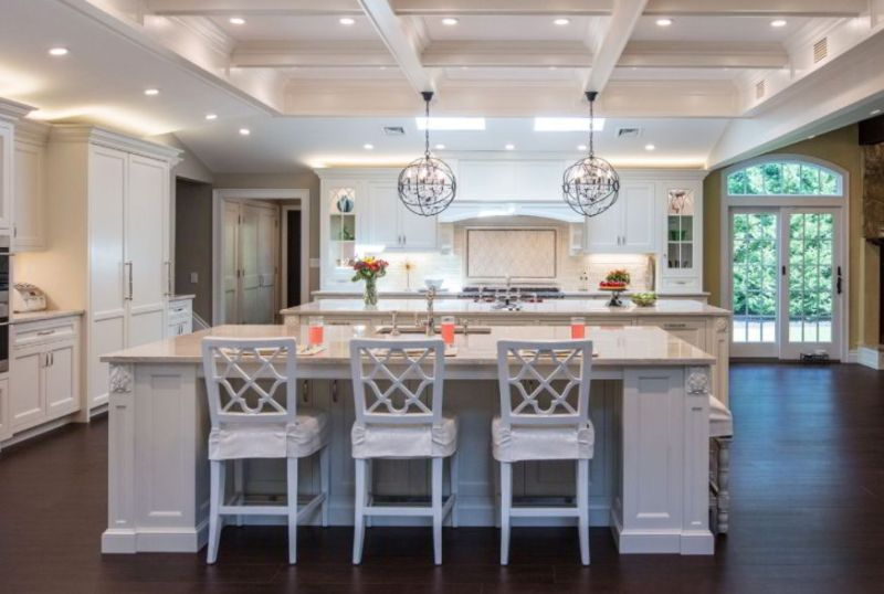 White Coffered Ceiling Image
