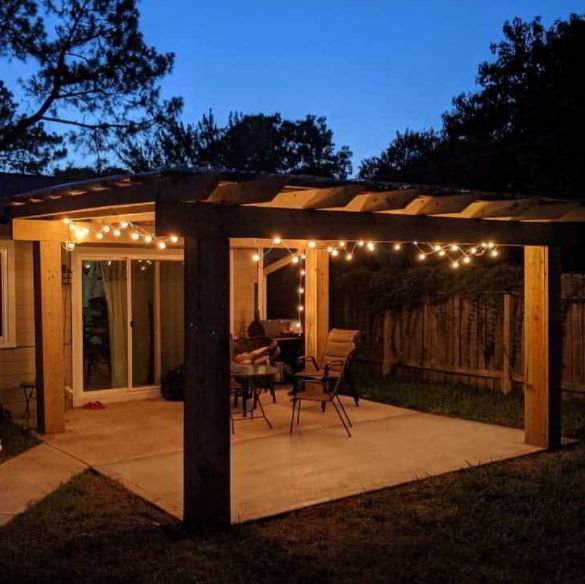 wood patio awning design