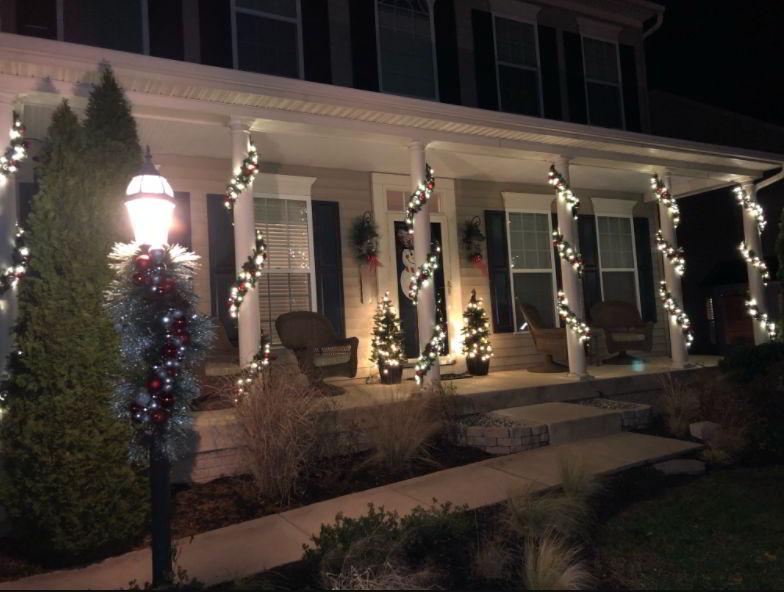 White porch light color