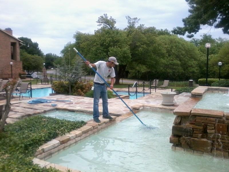 clean debris in the pool