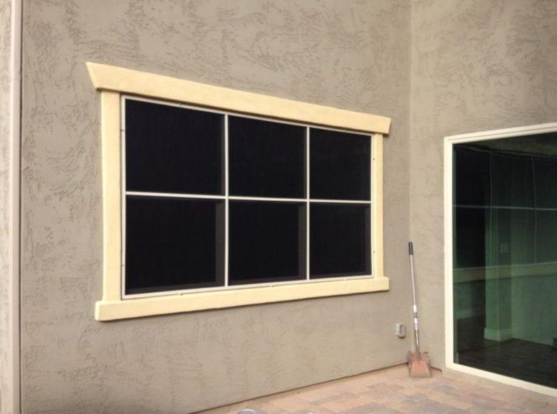 Wooden Frame Solar Screen