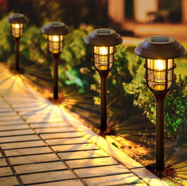 LED solar driveway lighting