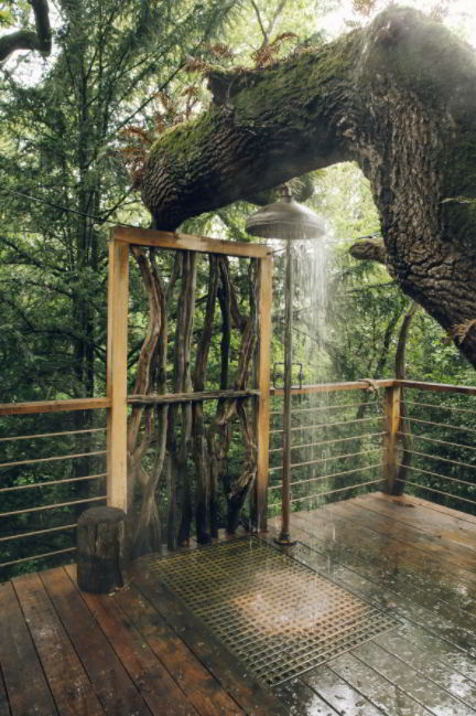 The Shower's Under the Treehouse