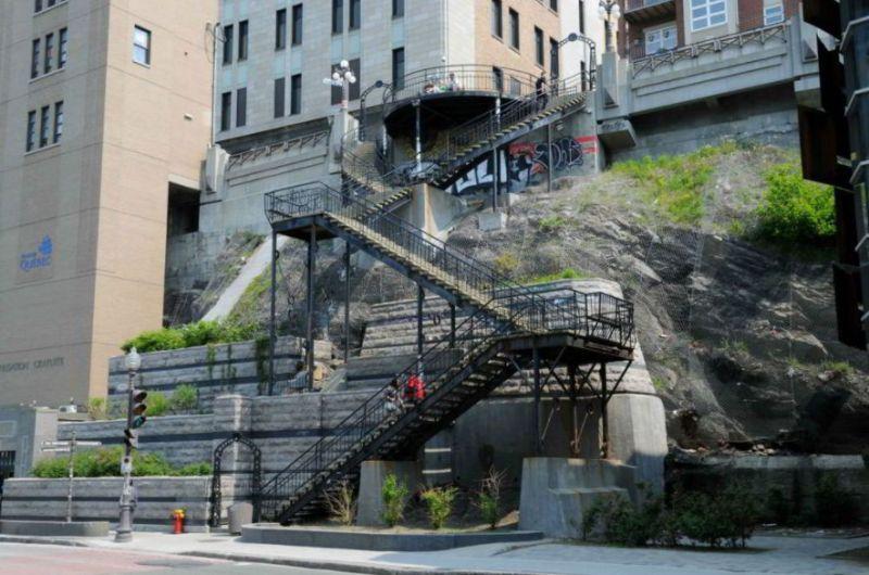 Escalier du Faubourg, Quebec, Canada