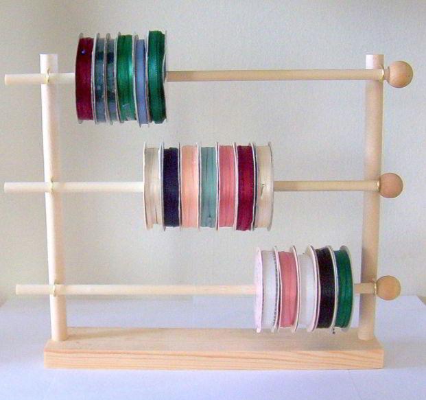 Wooden ribbon holder