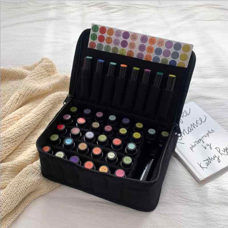 Fabric essential oil storage box