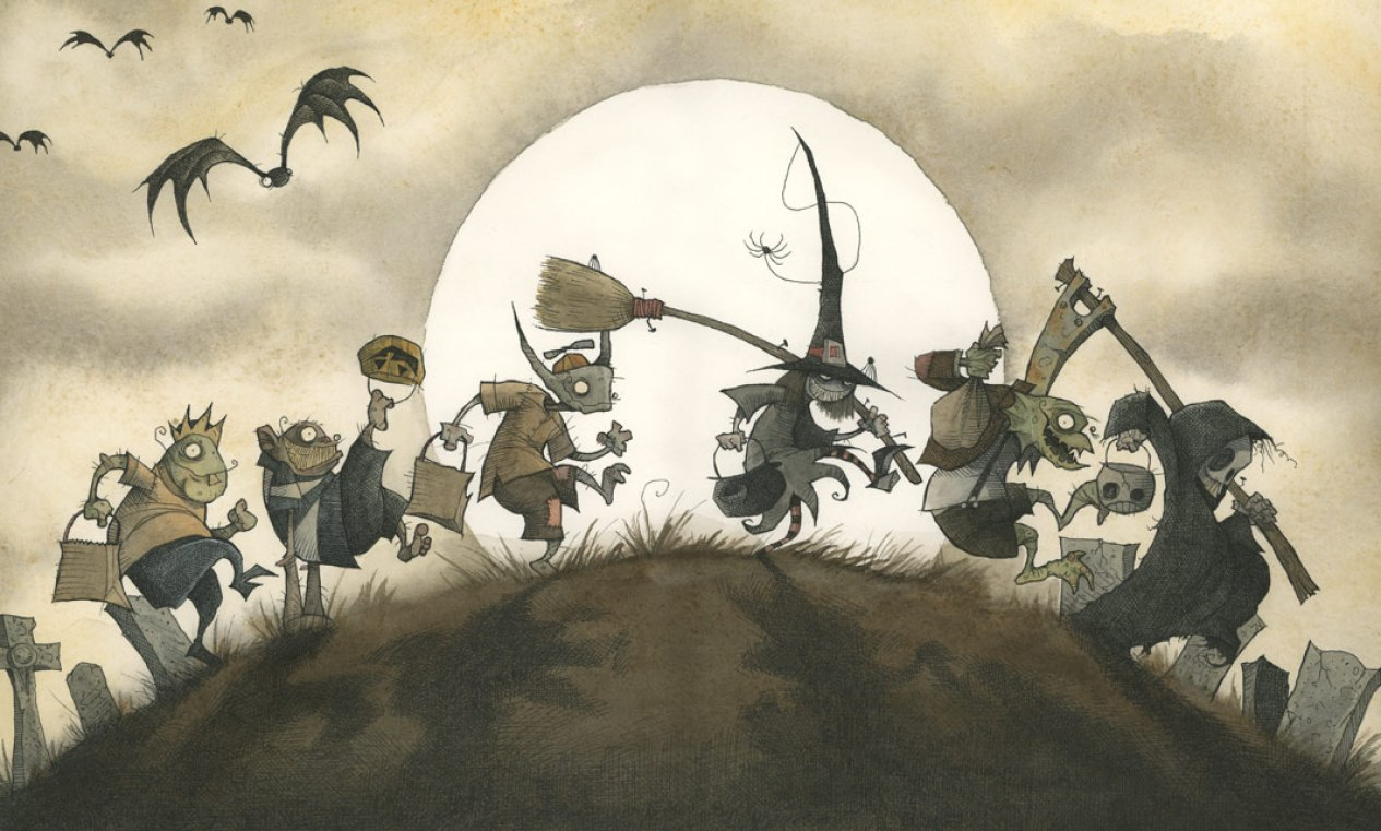 Boris And Bella gris grimly trick or treat halloween costume