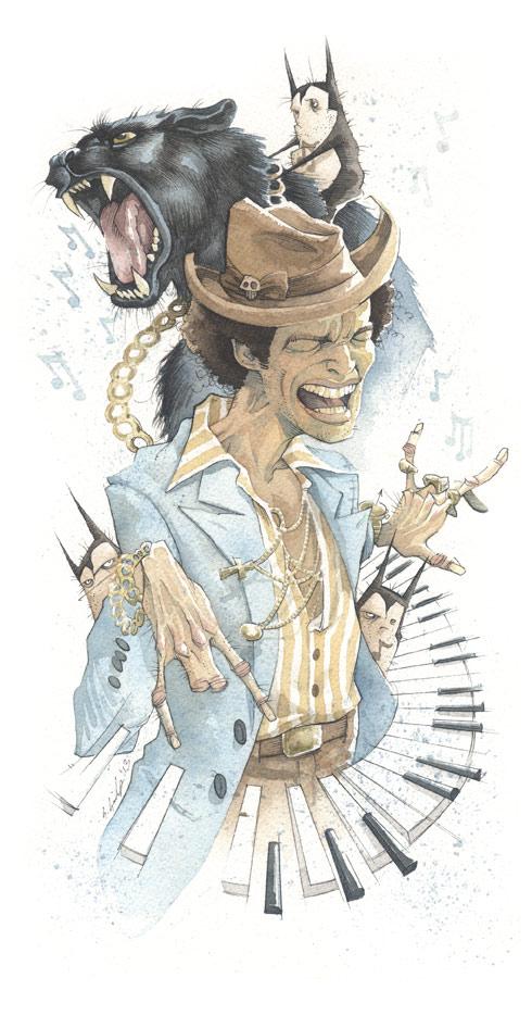 Bruno Mars gris grimly
