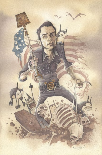 GRAVE ROBBIN' USA gris grimly self portrait