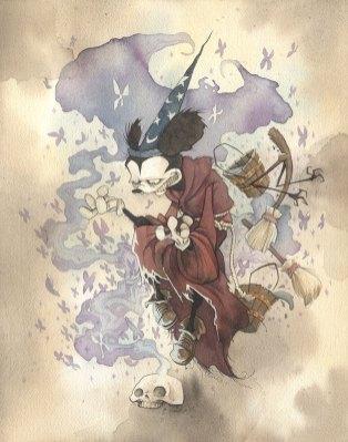 MICKEY THE CONJURER mickey mouse walt disney disneyland sorcerer's apprentice fantasia