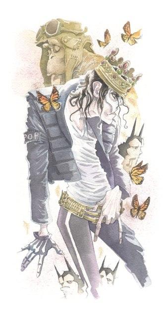 Michael Jackson gris grimly