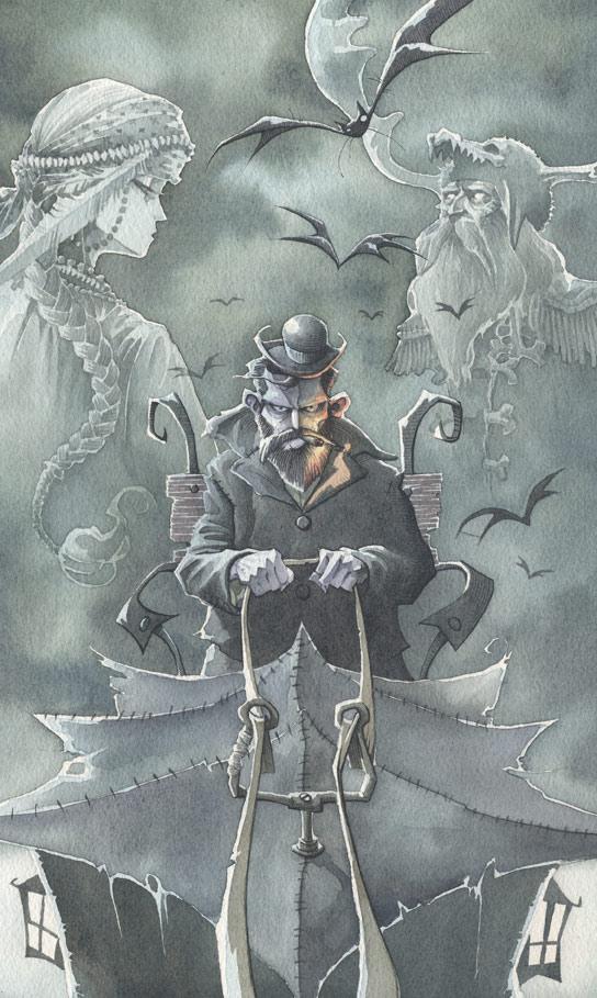 Sherlock Holmes gris grimly