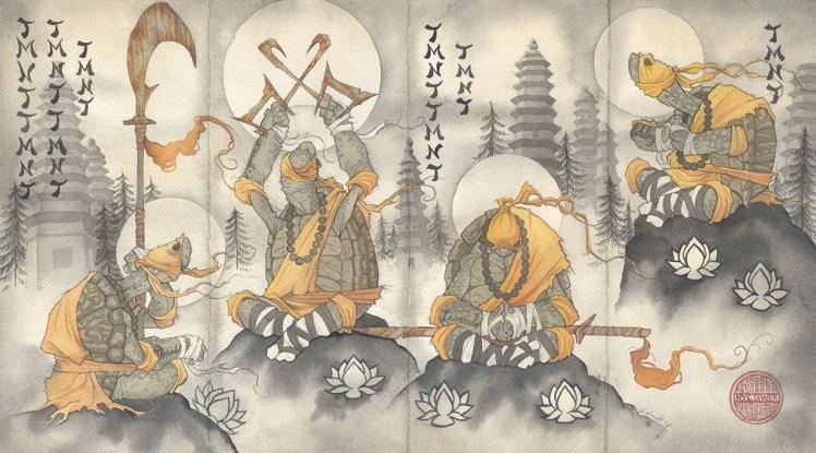 gris grimly Shaolin meditation buddhist monk buddha teenage mutant ninja turtles TMNT