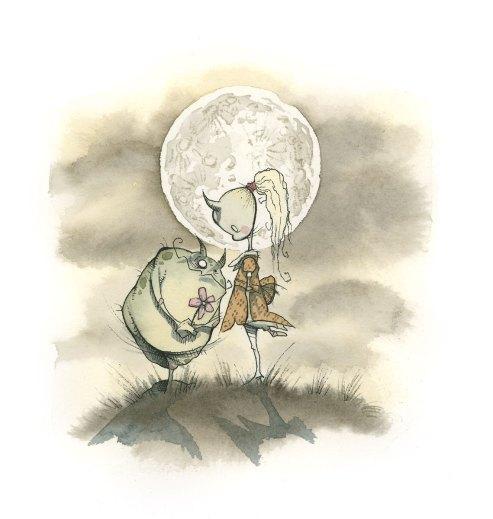 gris grimly grimericks ogre troll monsters full moon lovers