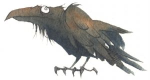 Crow gris grimly raven dark country americana