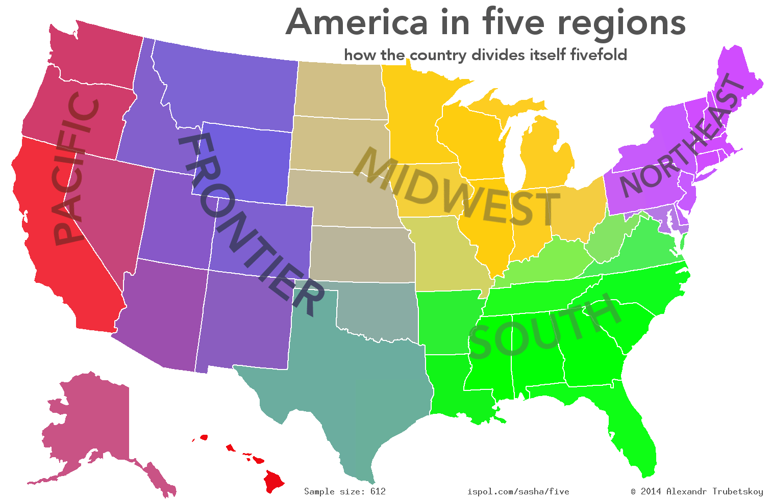 Oc The Usa In Five Regions 831 Map
