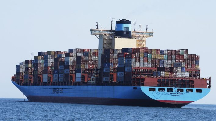 Maersk container ship e1614978284476 - About that ship jammed in the Suez Canal …