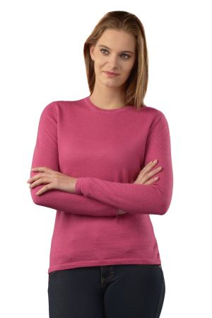 Crew Neck in Dark Pink