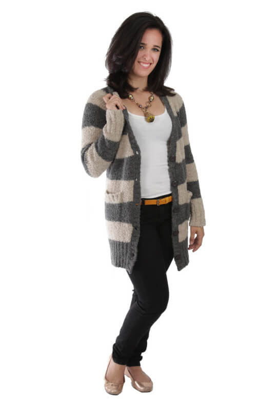 Boucle Striped Sweater