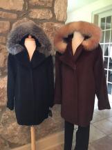 Alpaca & fox brown & black zip up with hood