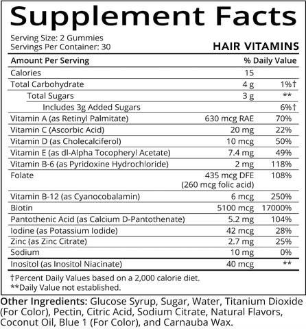 hair supplement facts