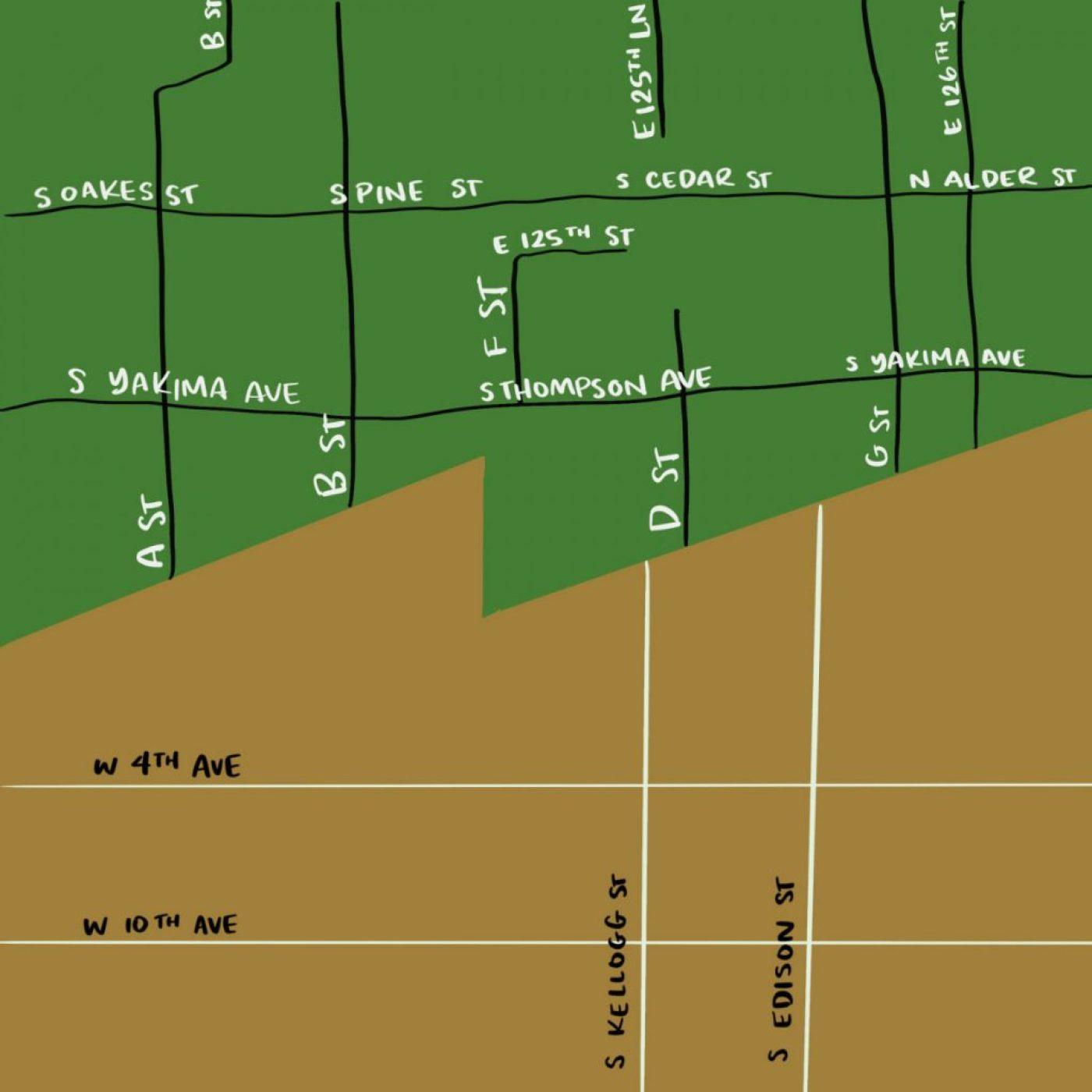 Tacoma-Kennewick streets