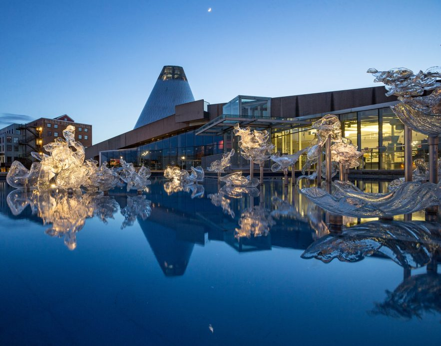 Museum of Glass with Reflection