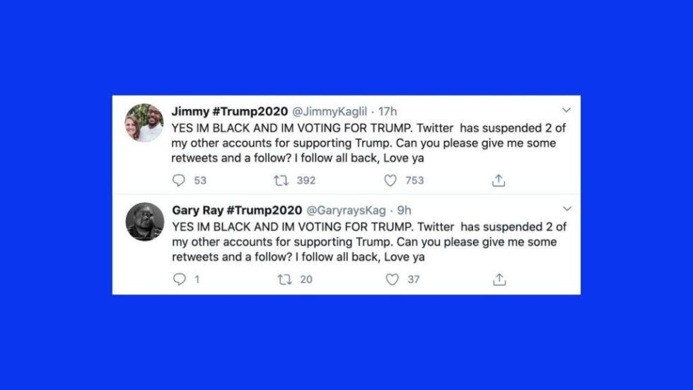 black support for trump
