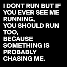 running and chasing