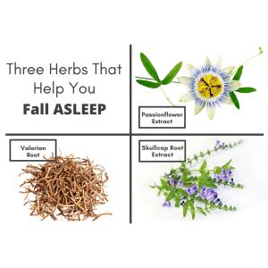 Utzy Naturals Three Herbs to help you Fall Asleep