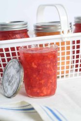 strawberry jam antique lid bright