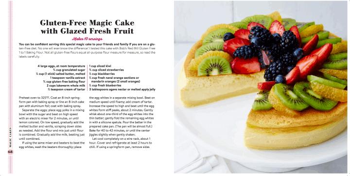 Gluten Free Magic Cake sample spread