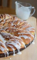Maple Pecan Coffeecake Twists. A shortcut recipe for the 1969 20th Annual Pillsbury Bakeoff bookazine. Drizzled with plenty of icing.