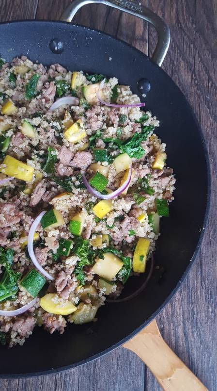 Turkey Quinoa Skillet Dinner with Squash