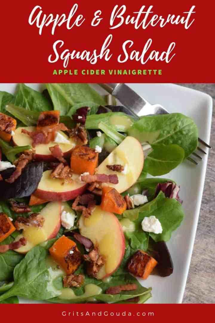 Pinterest image of Apple Butternut Squash Salad
