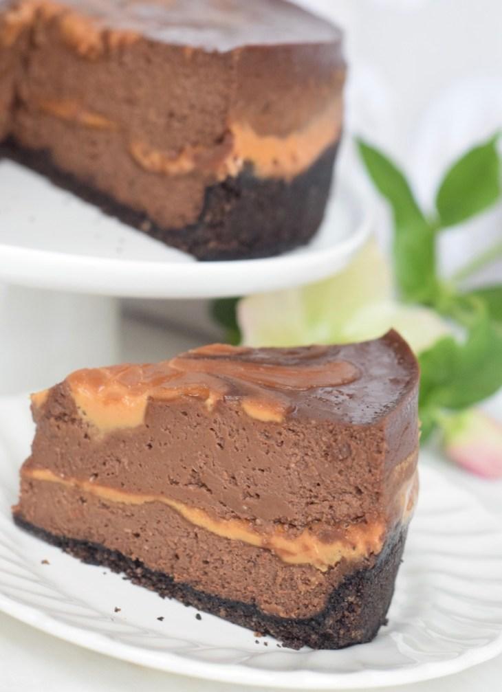 Instant Pot Choc PB Swirl Cheesecake