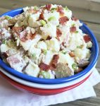 Sour Cream and Green Onion Potato Salad with Bacon
