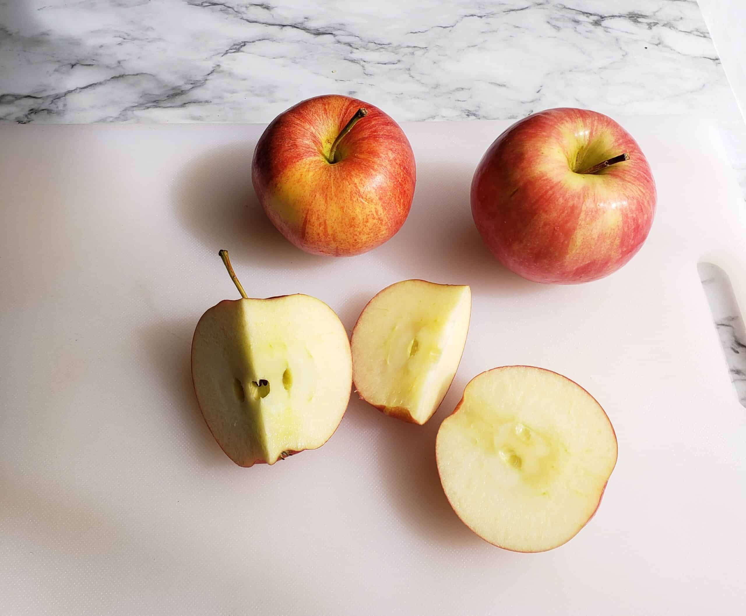 Cut apple without coring step 2